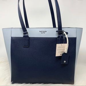 Kate spade Cameron Laptop Tote Blue contrast Large